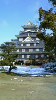 岡山は雪化粧